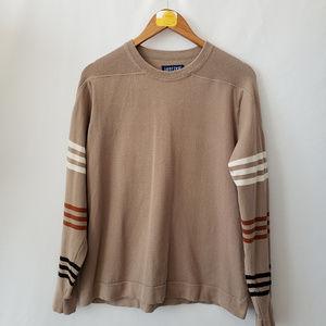 Jantzen Mens Vintage Pullover Sweater Cotton Beige